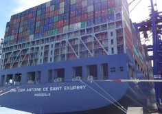 "The Port of Algeciras welcomes the call of CMA-CGM ""Antonie de Sant Exupéry"", the largest containership to operate in Spain"
