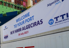 MEGASHIPS. HMM ALGECIRAS is already calling her port