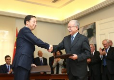 HISPANO-CHINESE AGREEMENTS. M.o.U. signed between the Ports of Algeciras and Ningbo Zhoushan