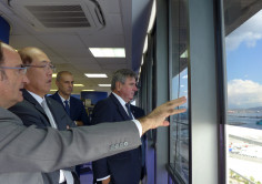 The secretary general of the IMO visits to the Port of Algeciras